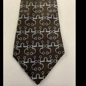 Hermes Men's Brown Tie 100% Silk Made In France